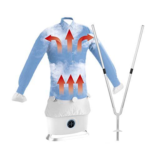 CLEANmaxx Automatischer Hemdenbügler mit Dampffunktion inkl. Hosenaufsatz | Bügelpresse, Bügelsystem, Dampfbügler | 1800 Watt [hochwertige Bügelhilfe, weiß]